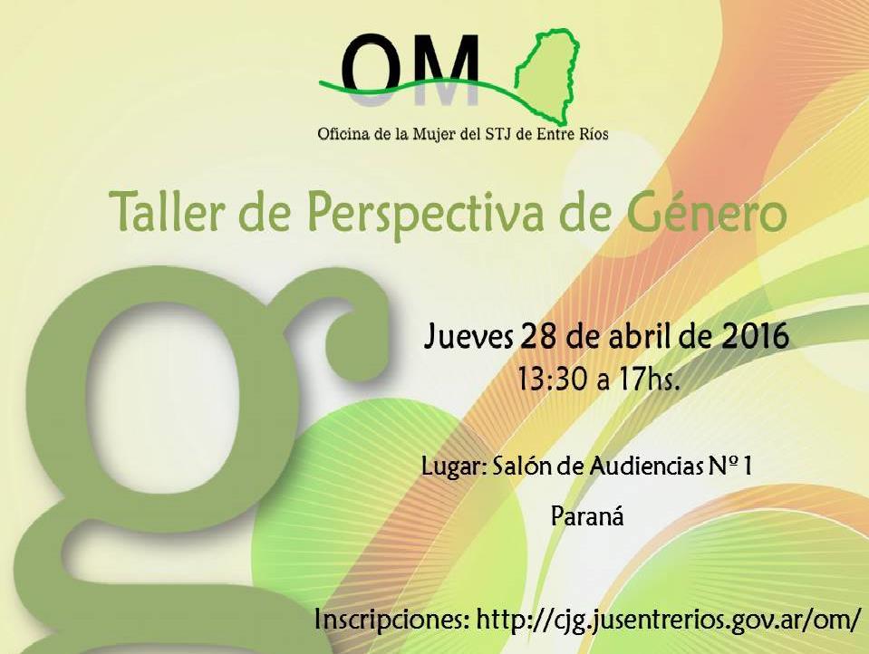 Nuevo taller sobre perspectiva de género