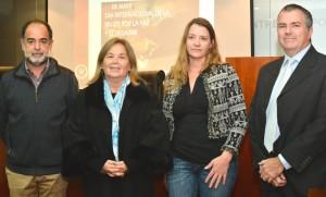 Los Dres. Marcelo Baridón, Susana Medina de Rizzo, Gisela Schumacher y Hugo Gonzalez Elias