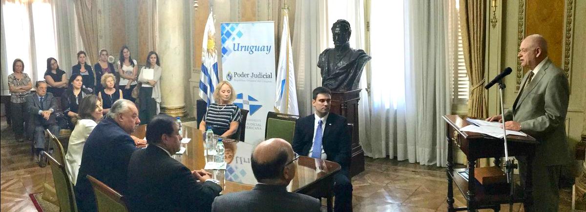 La Presidenta del STJ participó de la firma de un convenio de la Junta Federal de Cortes y el Poder Judicial de la República Oriental del Uruguay