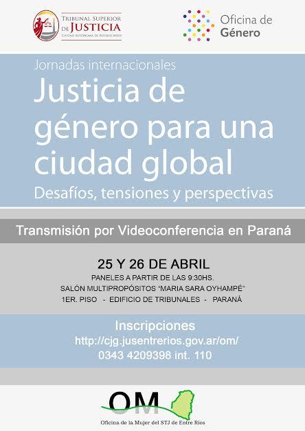 """Videoconferencia """"Justicia de género para una ciudad global. Desafíos, tensiones y perspectiva"""""""