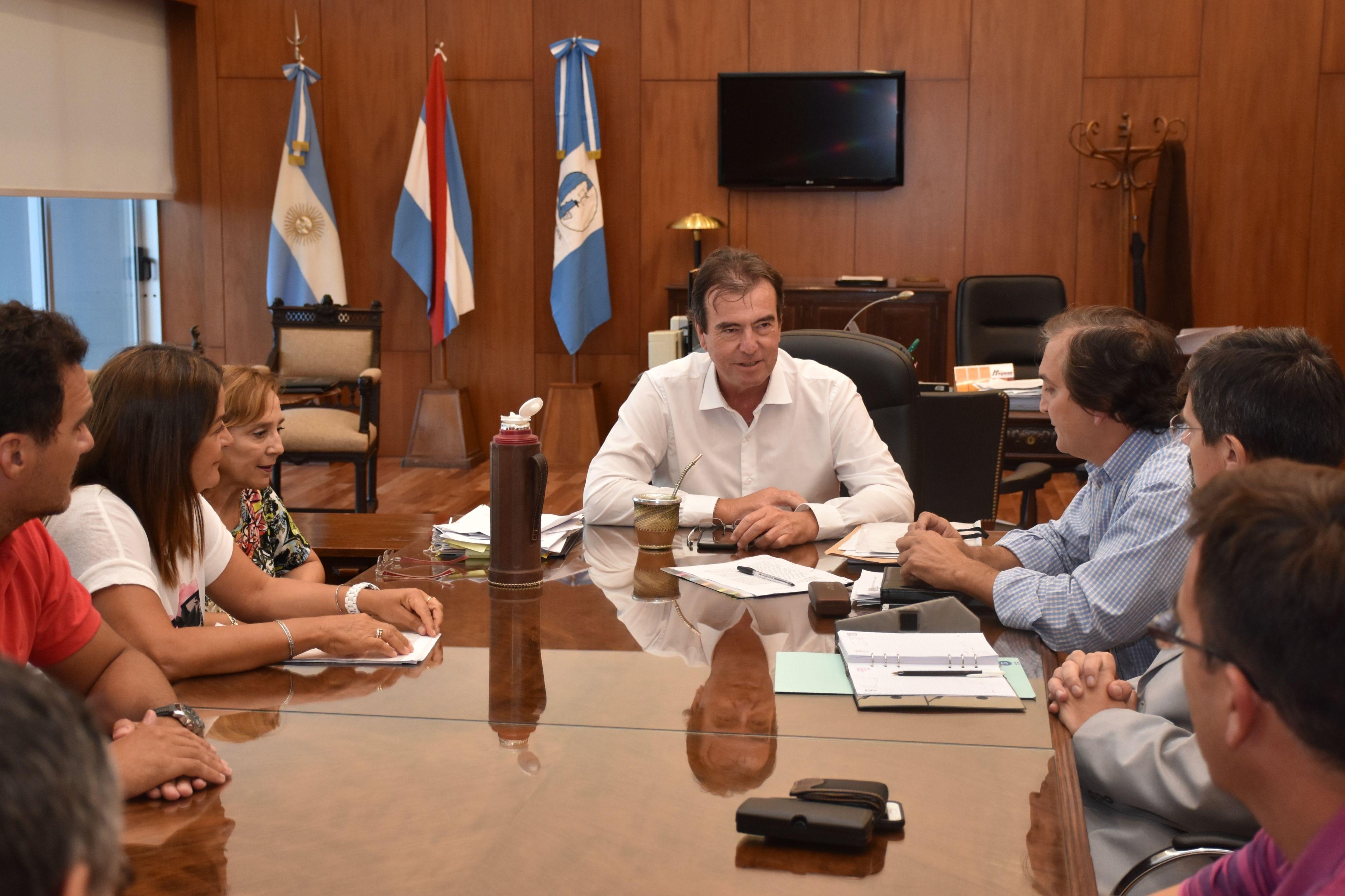 El Presidente del STJ recibió en audiencia a las autoridades de la Asociación de Magistrados y Funcionarios  del Poder Judicial de Entre Ríos