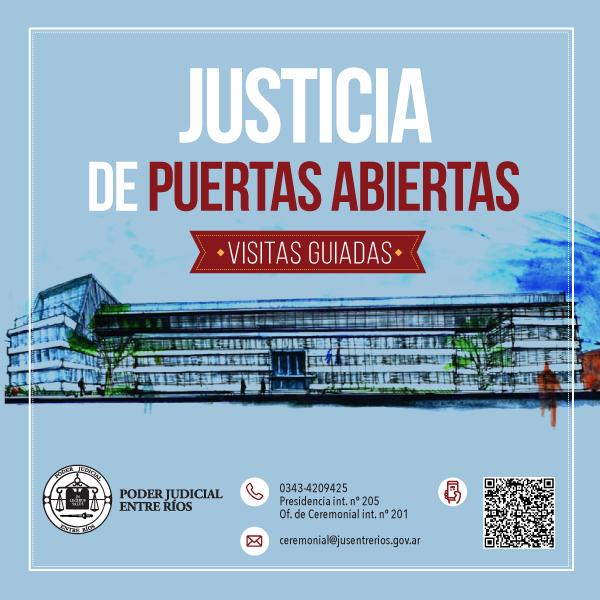 Visitas guiadas al edificio de Tribunales de Paraná
