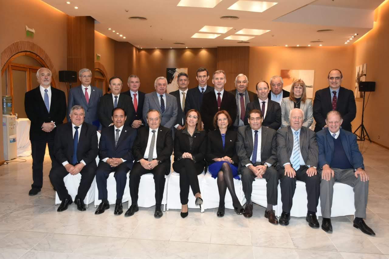 Germán Carlomagno y Miguel Ángel Giorgio participan en San Juan de la reunión de comisión directiva de Ju.Fe.Jus.