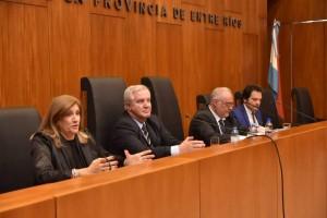 Dra. Rosario Romero, Dres. Alfredo Pérez Galimberti, Miguel Ángel Cullen y Elvio Osir Garzón