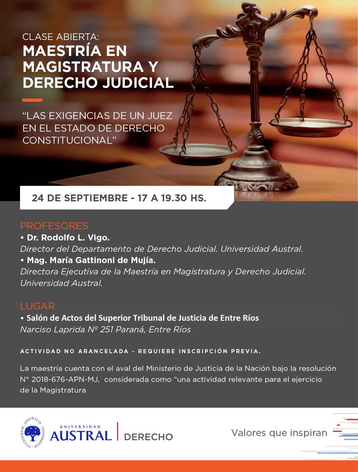 """""""LAS EXIGENCIAS DE UN JUEZ EN EL ESTADO DE DERECHO CONSTITUCIONAL"""""""
