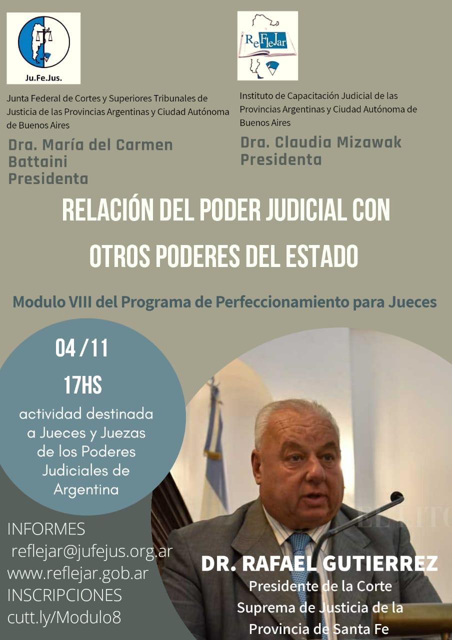 Está abierta la inscripción al VIII Módulo del Programa de perfeccionamiento para Jueces