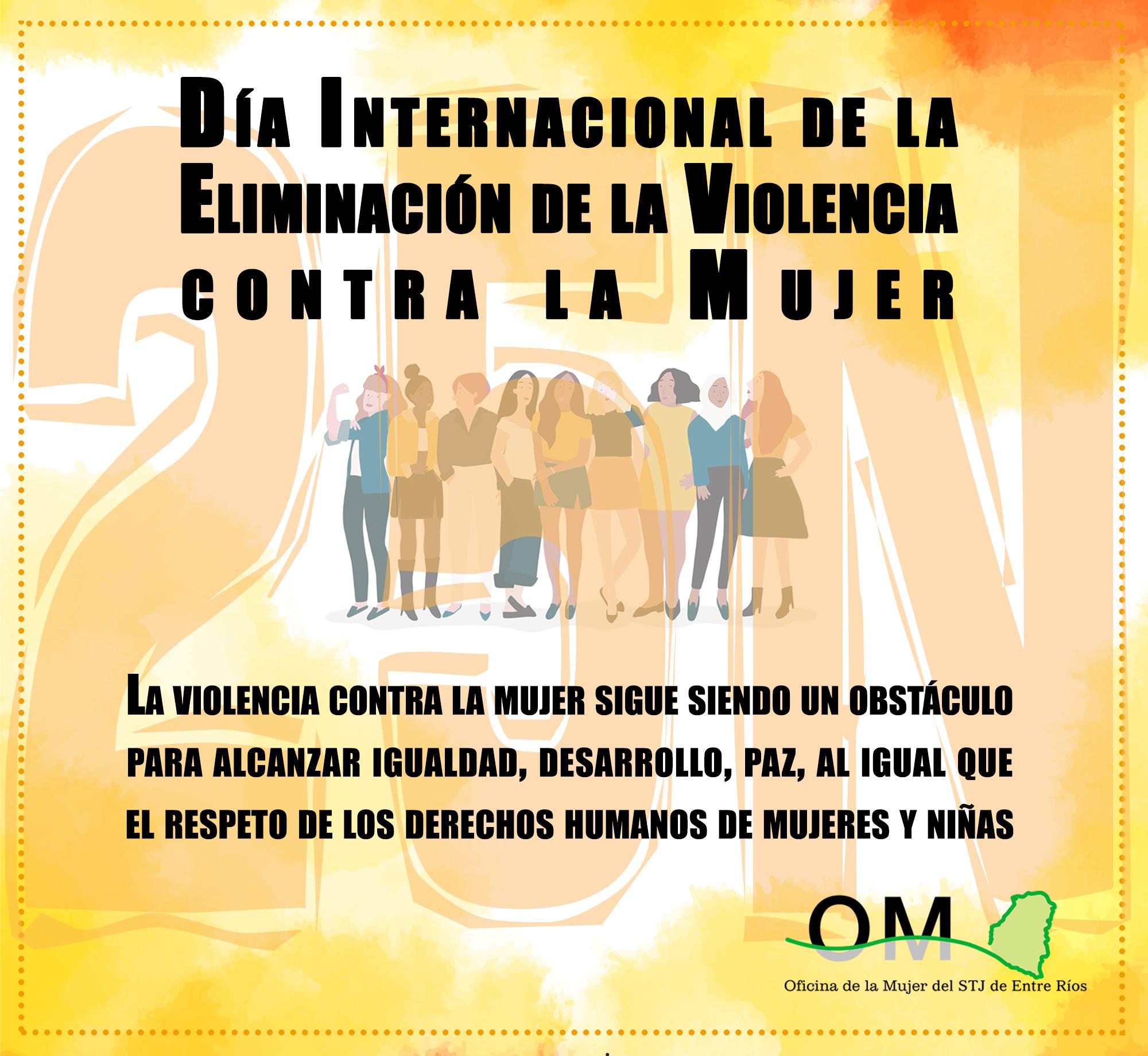 """25 de noviembre: """"Día Internacional de la Eliminación de la Violencia contra la Mujer"""""""