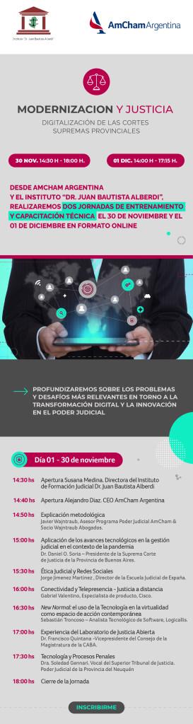 Jornadas: Modernización y Justicia. Digitalización de Cortes Supremas Provinciales