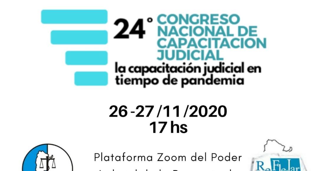 flyer XXIV Congreso Nacional de Capacitación Judicial