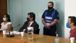 La defensa de Martínez, representada por el abogado Luis Sebastián Lescano.
