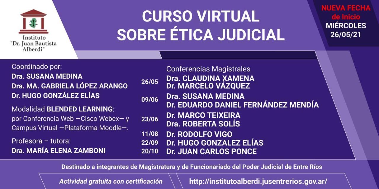 Curso virtual sobre ética judicial